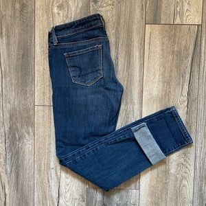 American Eagle Dark Straight Leg Jeans